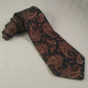 OSCAR DE LA RENTA Silk Necktie PAISLEY Green Brown